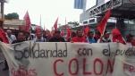 Solidaritätskundgebung mit Protesten in der Provinz Colón