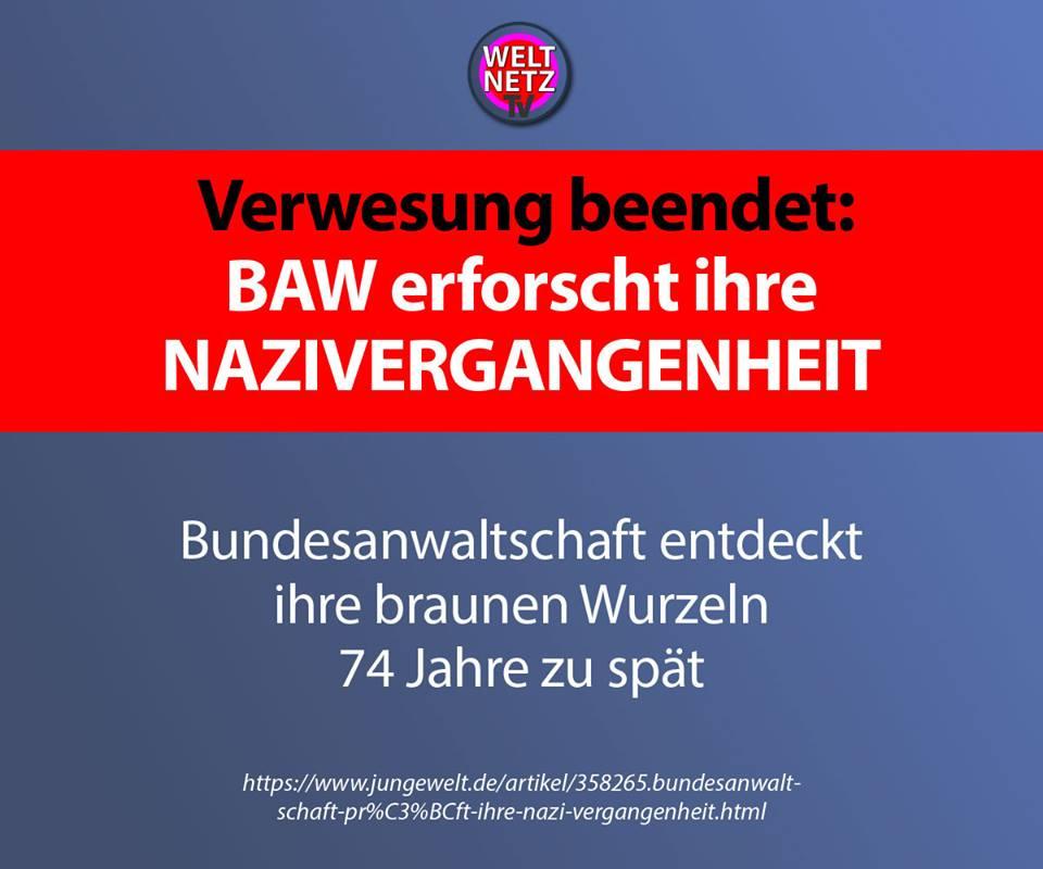 Verwesung beendet: BAW erforscht ihre Nazivergangenheit
