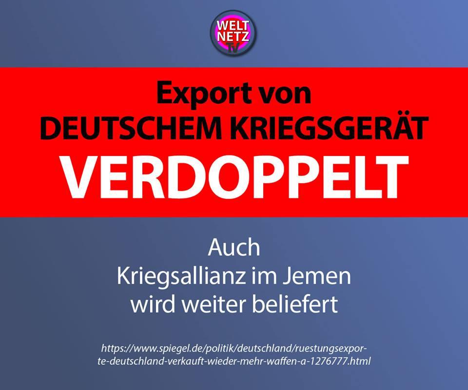 Export von deutschem Kriegsgerät verdoppelt
