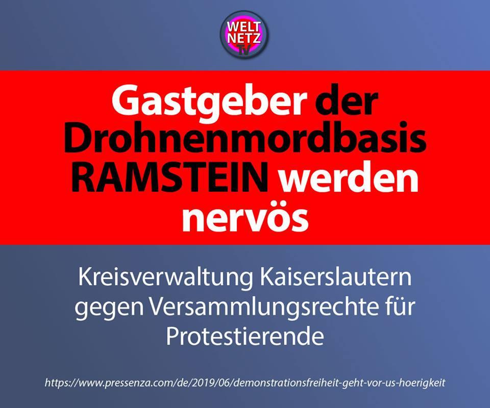 Gastgeber der Drohnenmordbasis Ramstein werden nervös