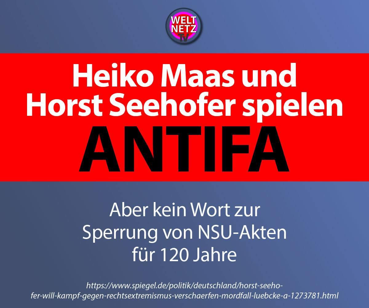 Heiko Maas und Horst Seehofer spielen Antifa
