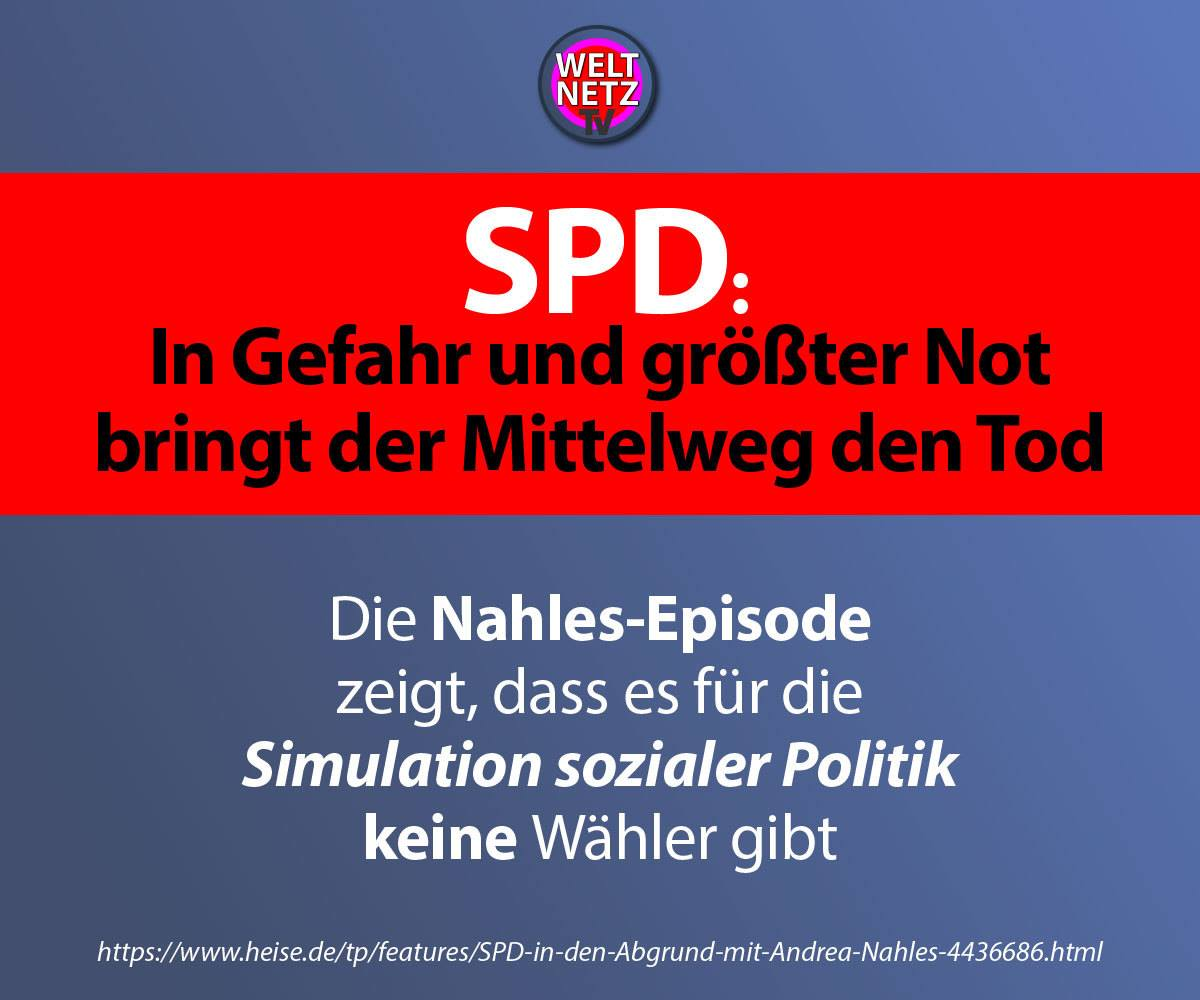 SPD: In Gefahr und größter Not ...