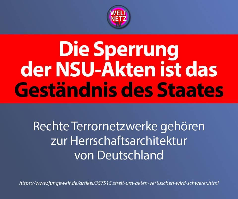 Die Sperrung der NSU-Akten ist das Geständnis des Staates