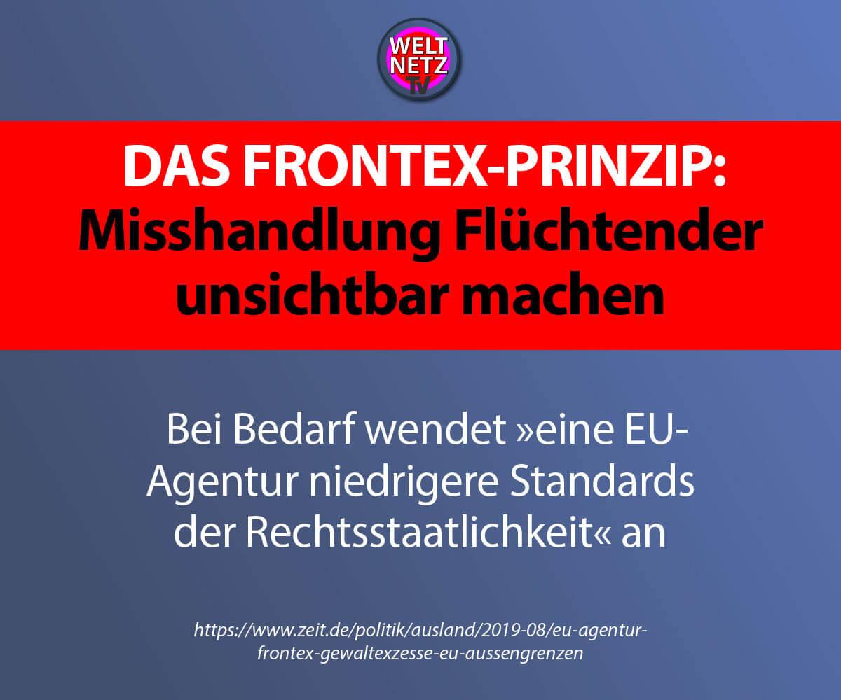 Das Frontex-Prinzip: Misshandlung Flüchtender unsichtbar machen