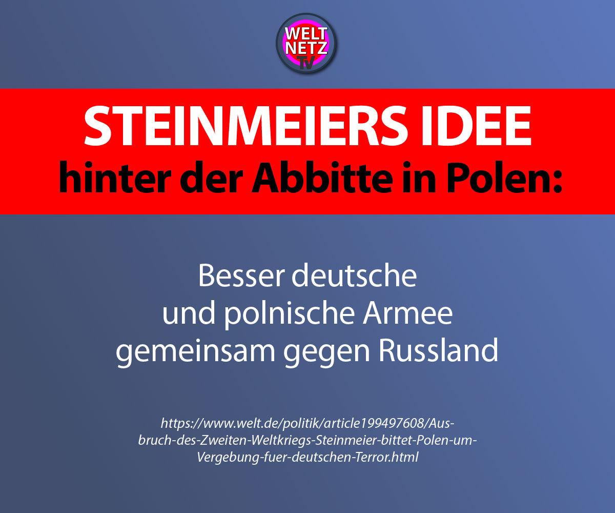 Steinmeiers Idee hinter der Abbitte in Polen:
