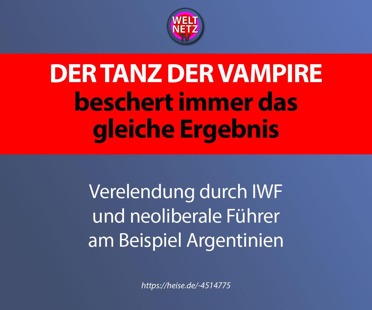 Der Tanz der Vampire beschert immer das gleiche Ergebnis