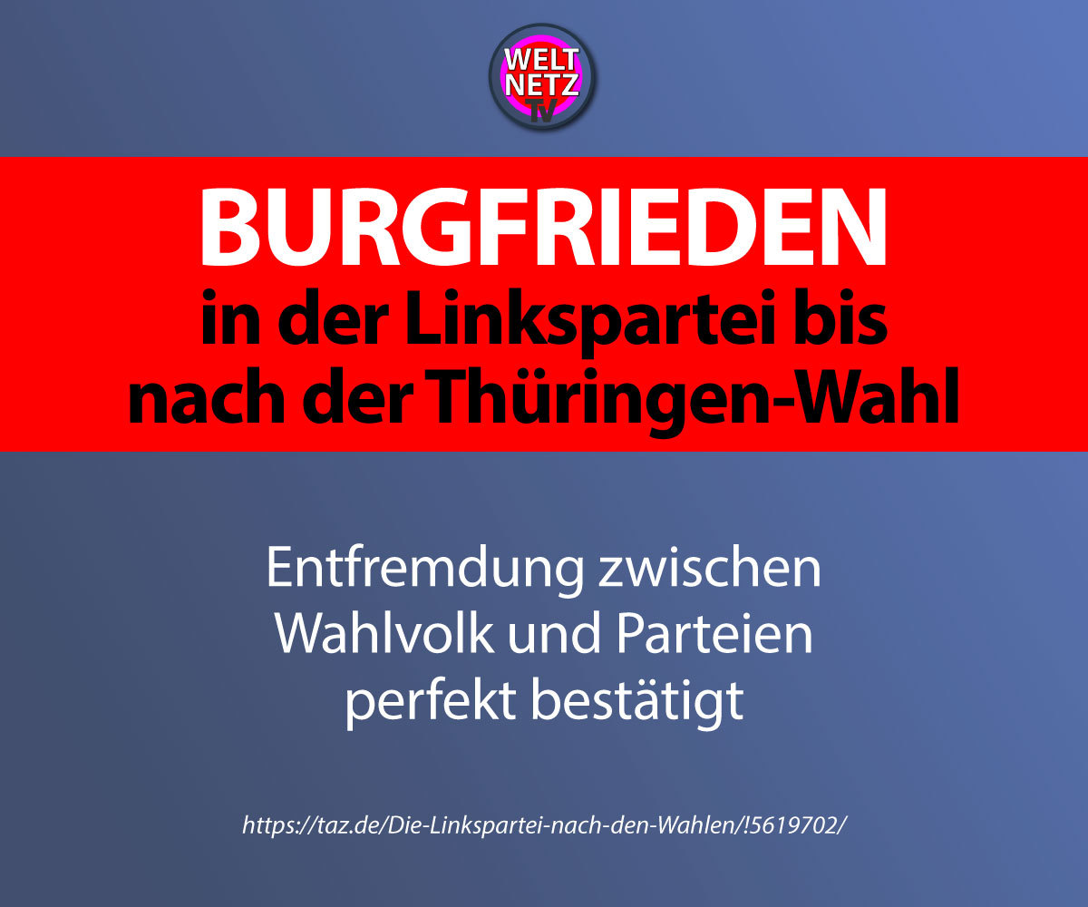 Burgfrieden in der Linkspartei bis nach der Thüringen-Wahl