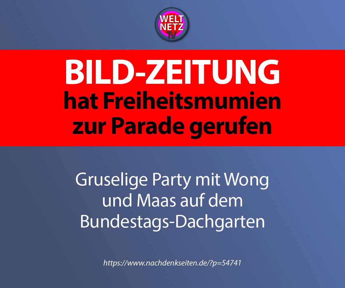 Bild-Zeitung hat Freiheitsmumien zur Parade gerufen