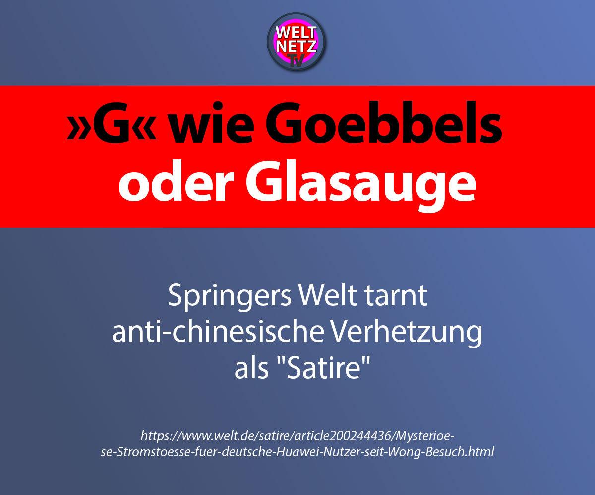 """G"" wie Goebbels oder Glasauge"