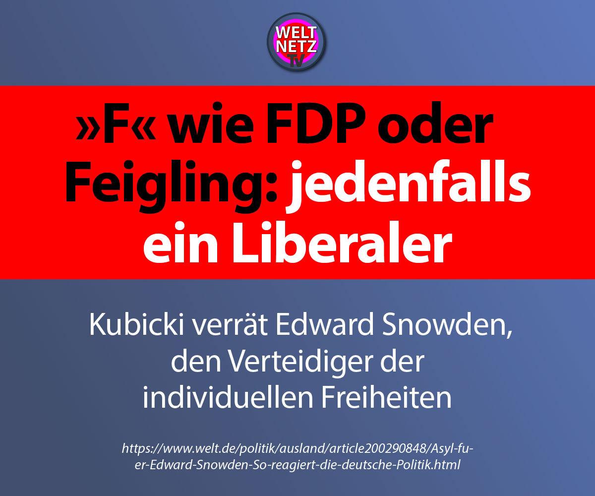"""""""F"""" wie FDP oder Feigling: jedenfalls ein Liberaler"""