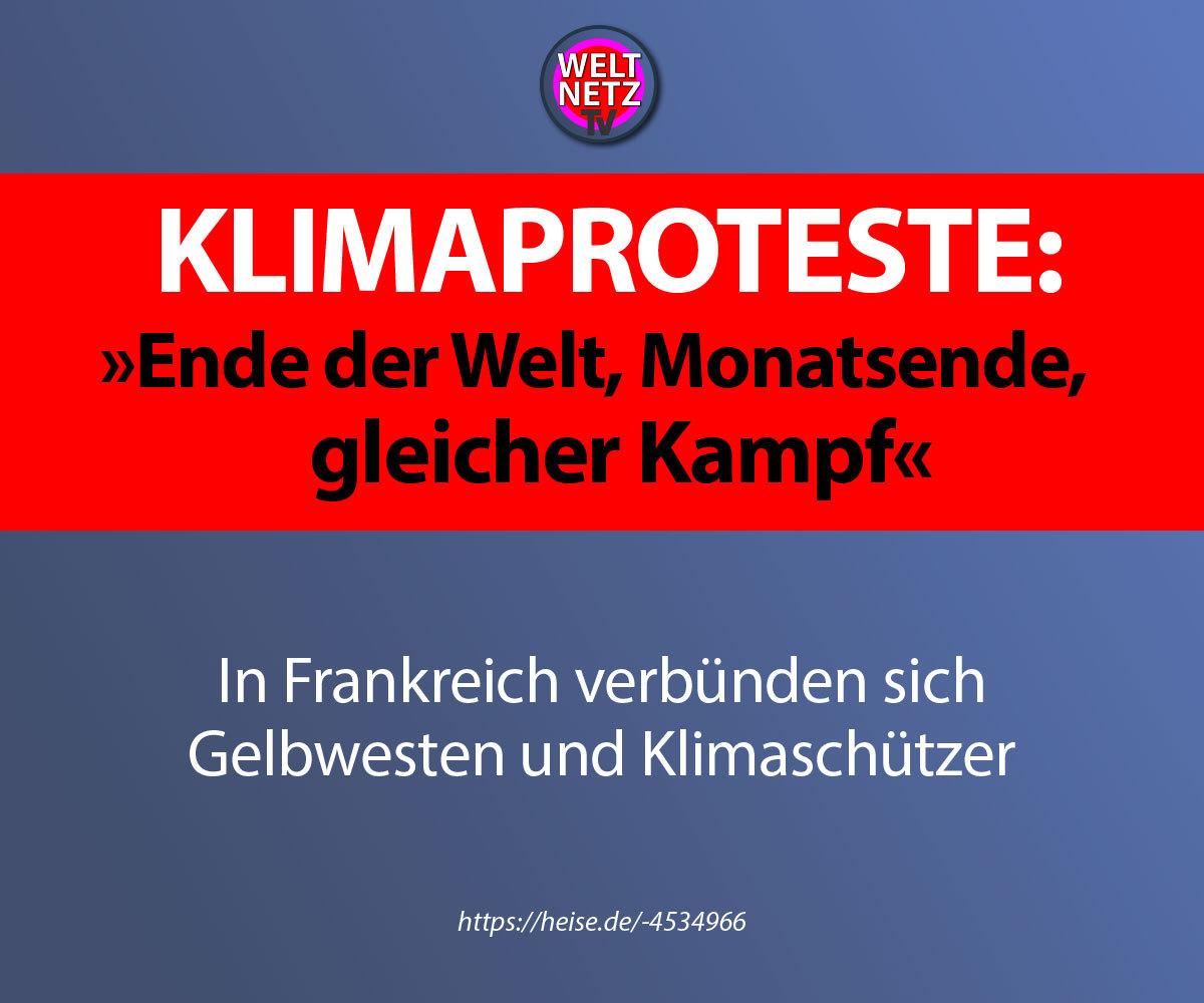 "Klimaproteste: ""Ende der Welt, Monatsende, gleicher Kampf"""