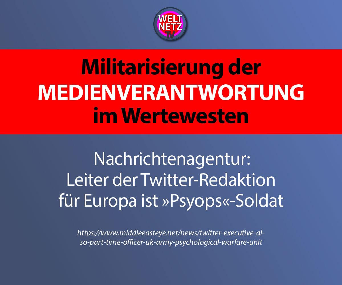 Militarisierung der Medienverantwortung im Wertewesten