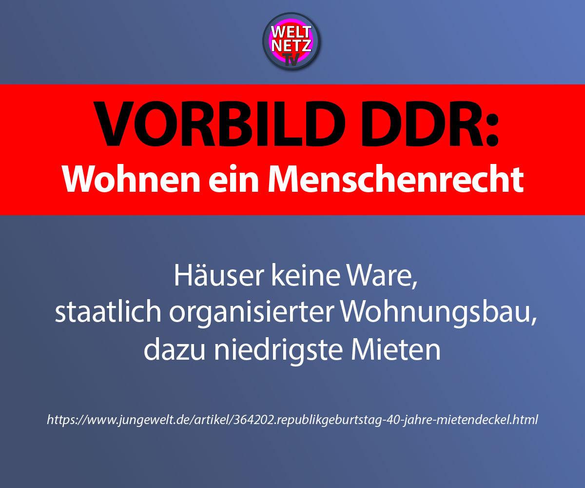 Vorbild DDR: Wohnen ein Menschenrecht