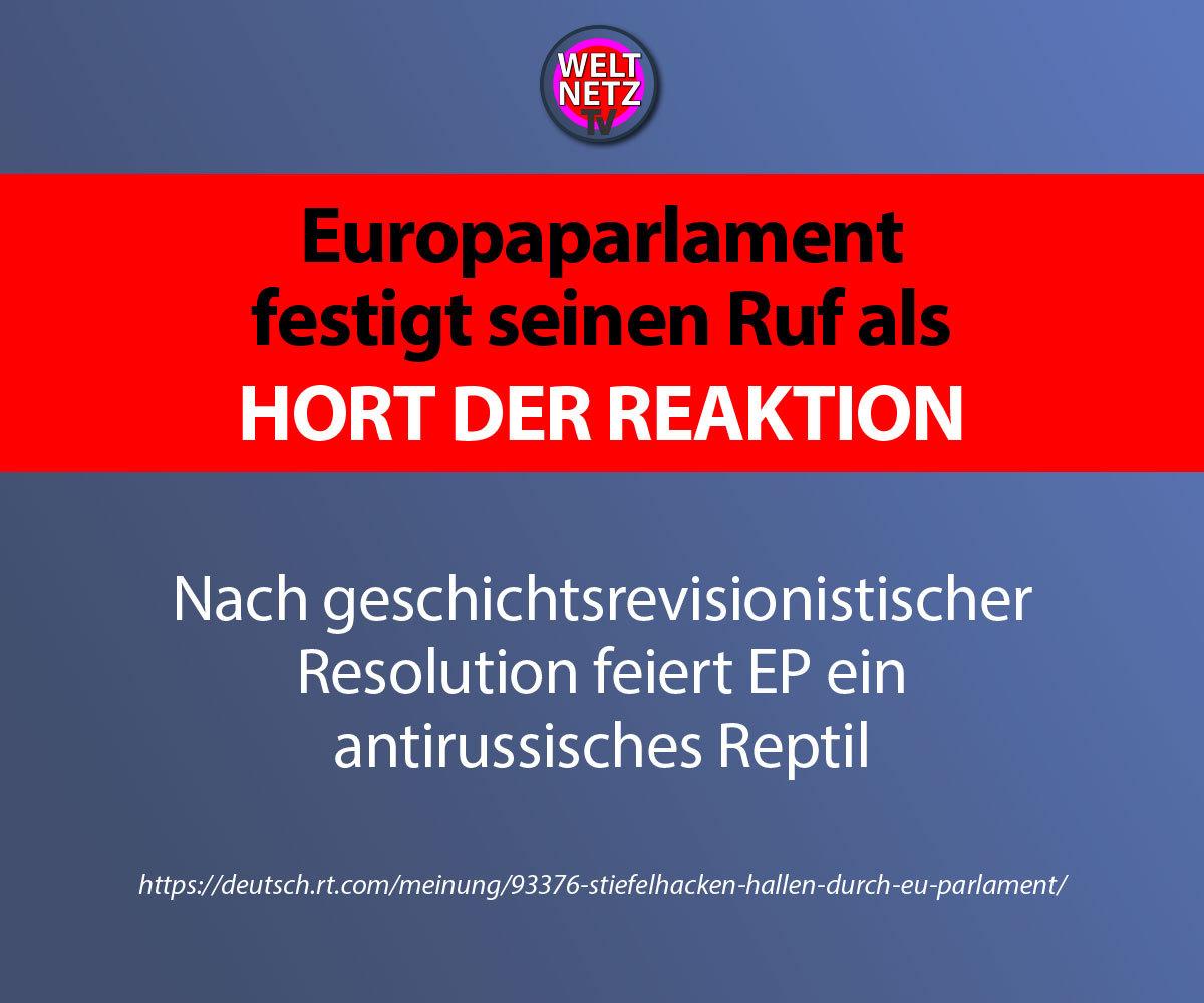 Europaparlament festigt seinen Ruf als Hort der Reaktion