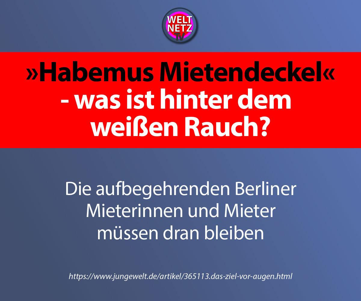 """""""Habemus Mietendeckel"""" - was ist hinter dem weißen Rauch?"""