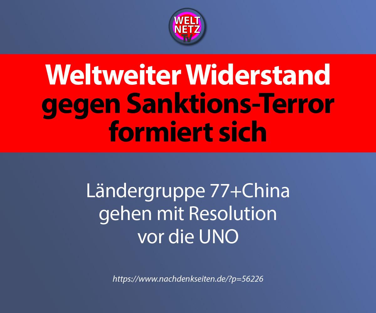 Weltweiter Widerstand gegen Sanktions-Terror formiert sich