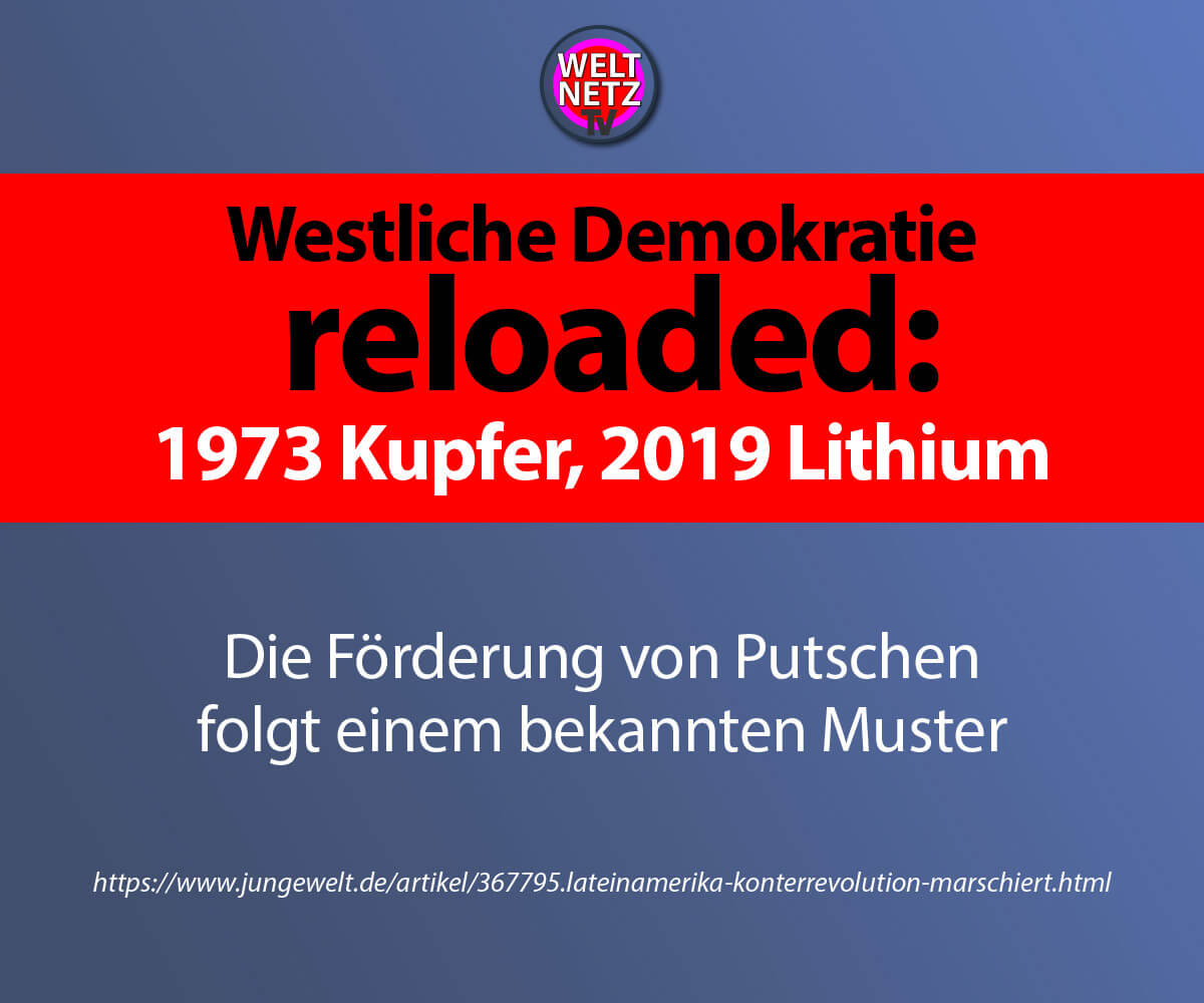 Westliche Demokratie reloaded: 1973 Kupfer, 2019 Lithium