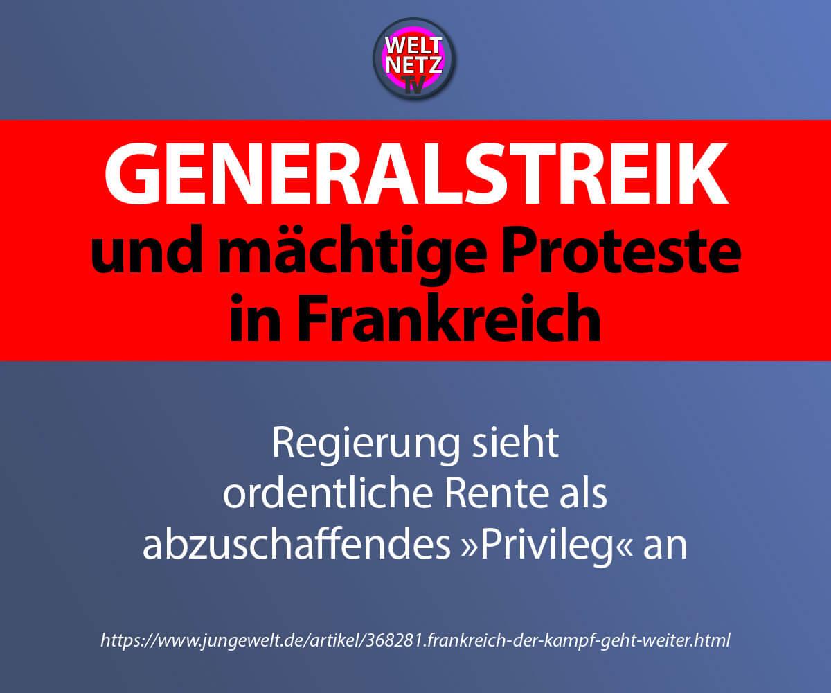 Generalstreik und mächtige Proteste in Frankreich