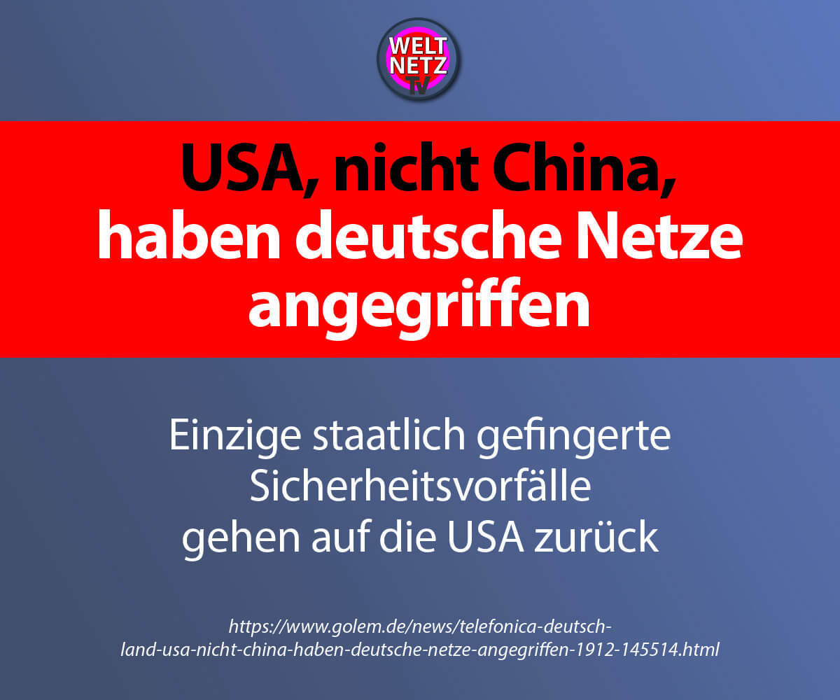 USA, nicht China, haben deutsche Netze angegriffen