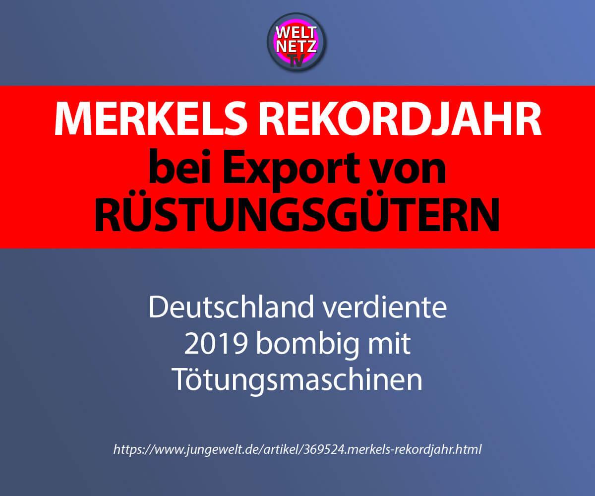 Merkels Rekordjahr bei Export von Rüstungsgütern
