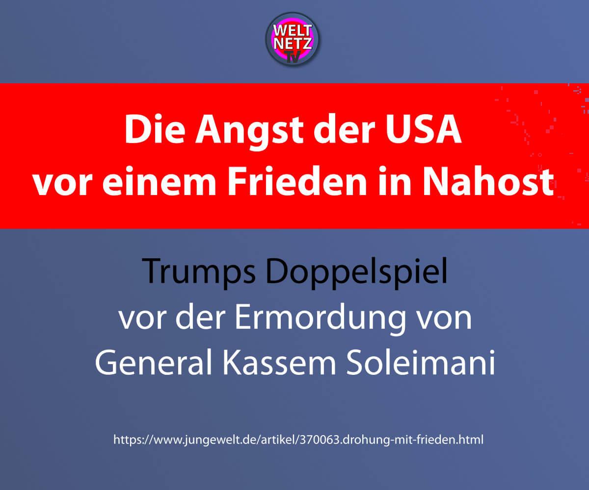 Die Angst der USA vor einem Frieden in Nahost