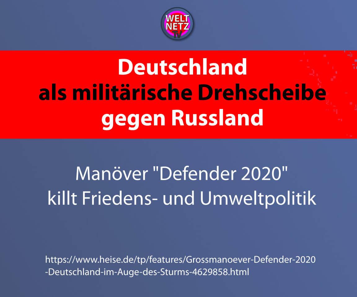 Deutschland als militärische Drehscheibe gegen Russland