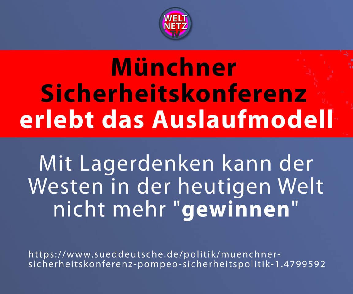 Münchner Sicherheitskonferenz erlebt das Auslaufmodell