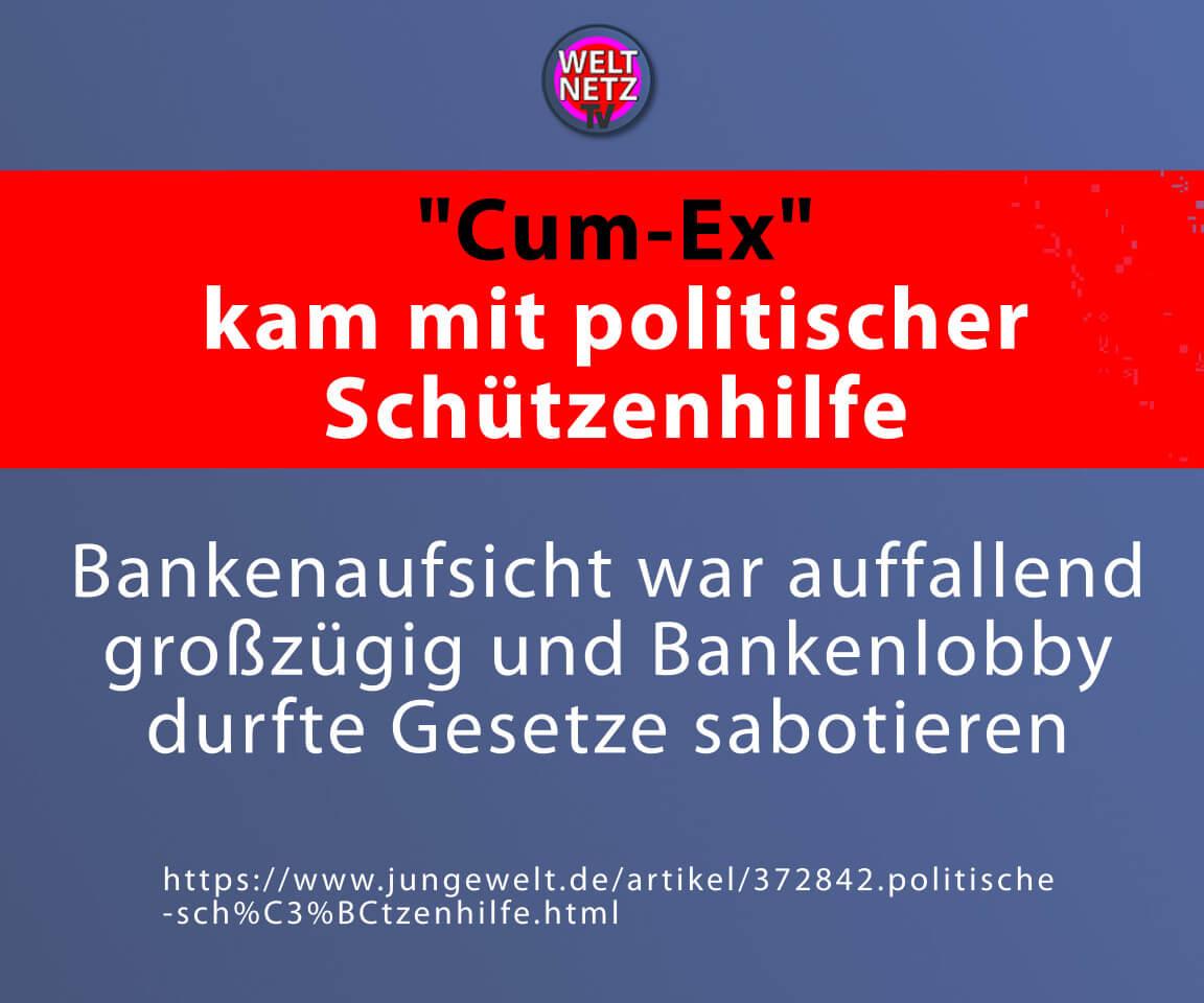 """""""Cum-Ex"""" kam mit politischer Schützenhilfe"""