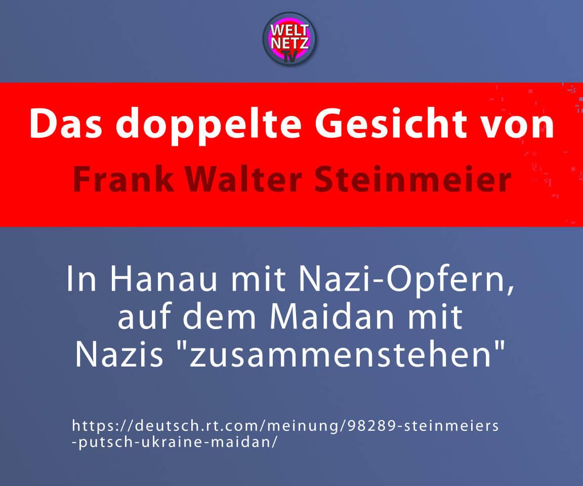 Das doppelte Gesicht von Frank Walter Steinmeier