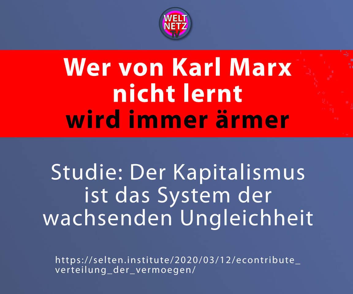 Wer von Karl Marx nicht lernt wird immer ärmer