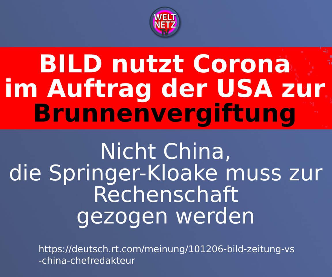 BILD nutzt Corona im Auftrag der USA zur Brunnenvergiftung