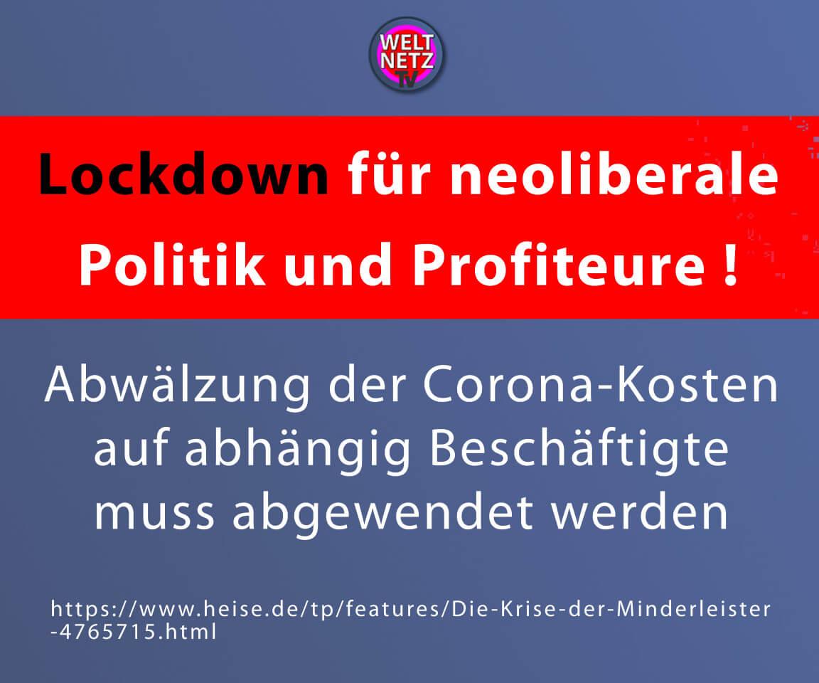 Lockdown für neoliberale Politik und Profiteure