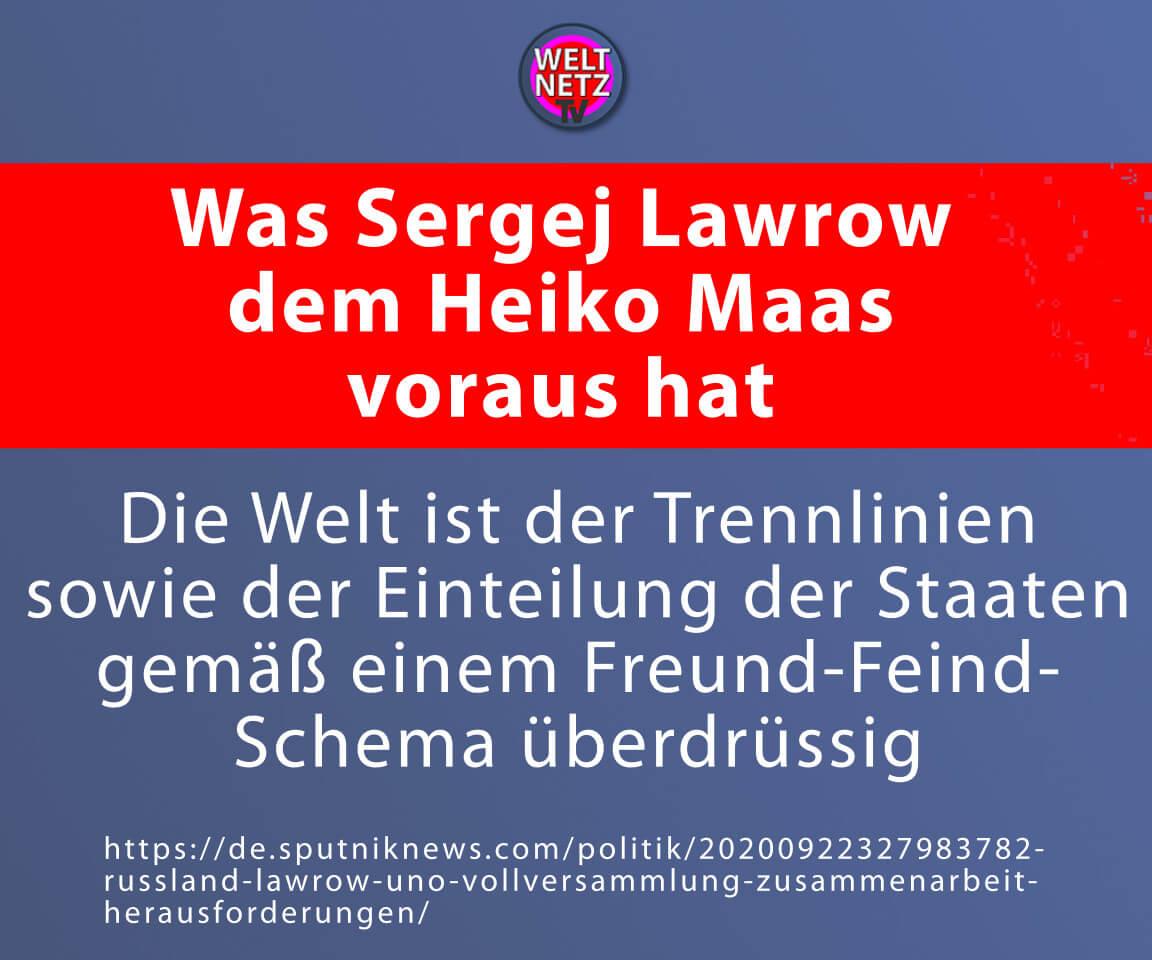Was Sergej Lawrow dem Heiko Maas voraus hat