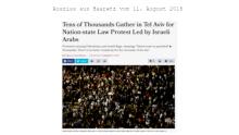 Proteste in Israel gegen neues Nationalitätengesetz