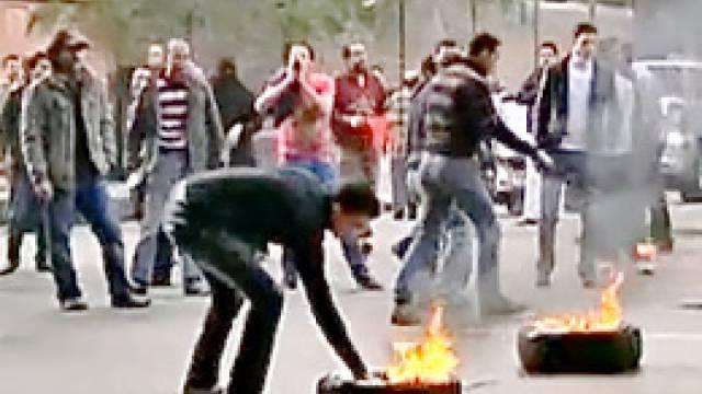Die Proteste gegen die ägyptische Regierung und den Präsidenten Mubarak