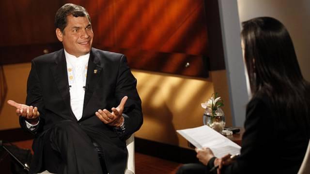 Rafael Correa im Interview