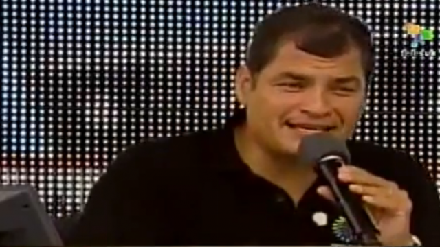 Rafael Correa in New York