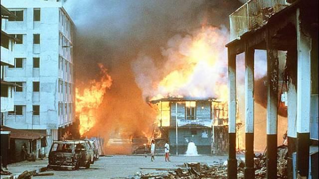 Massive Zerstörungen gingen der Invasion voraus