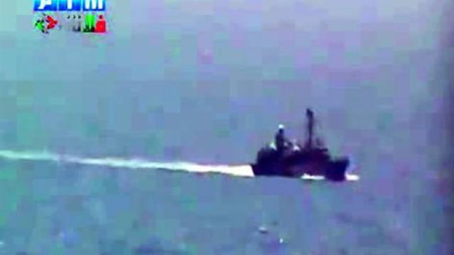 Kriegsschiff vor Latakia - Aufnahme aus dem Internet