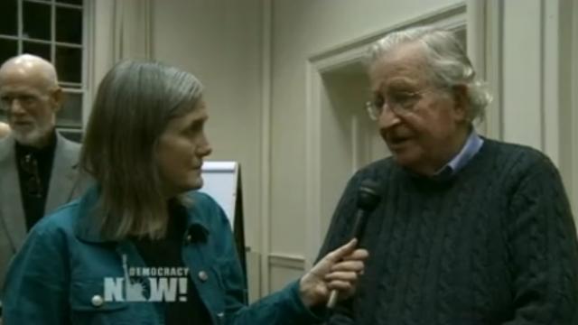 Amy Goodman, Noam Chomsky, Quelle: Democracy now!