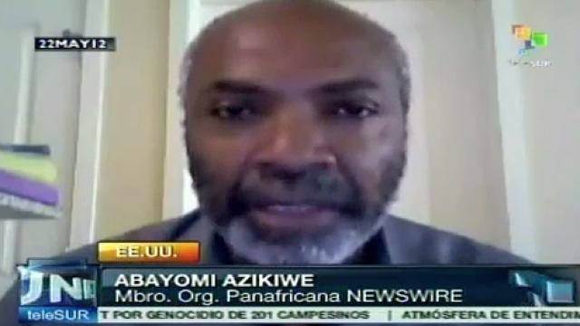 Abayomi Azikiwe, Mitglied der Organisation Pan-African News Wire