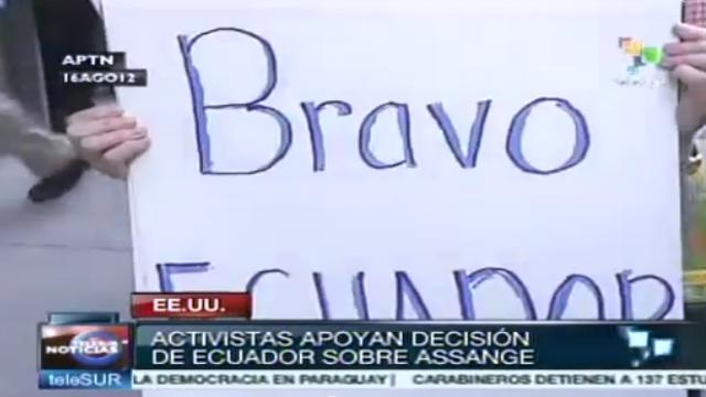US-Aktivisten unterstützen Assange