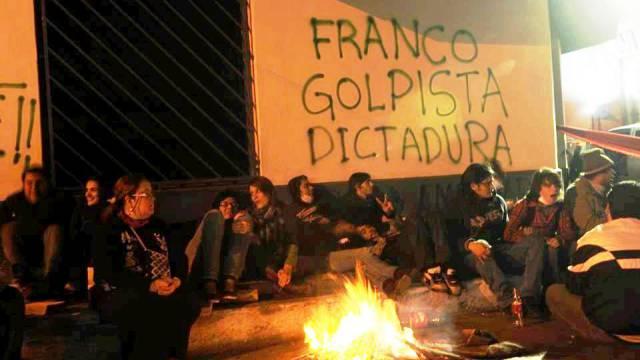 Dauerprotest in Asunción. Foto: Gustavo Torres Monges)