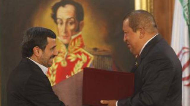 Ahmadinedschad und Chávez