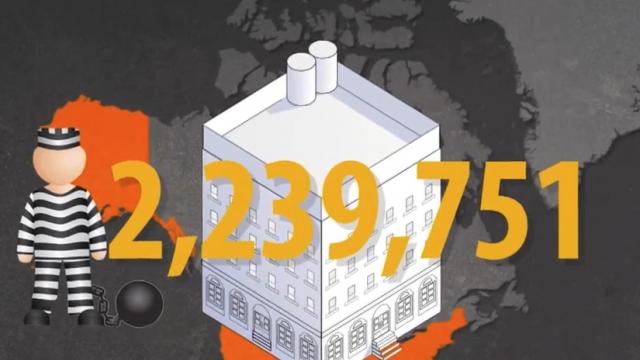 USA: mehr als 2 Millionen Menschen sitzen in US-amerikanischen Haftanstalten.