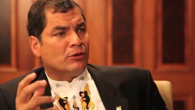 Rafael Correa im Gespräch mit weltnetz.tv