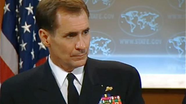 Konteradmiral John Kirby, Pressesprecher des Pentagon