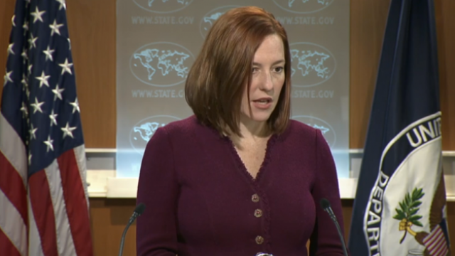 Jen Psaki, Sprecherin des US-Außenministeriums
