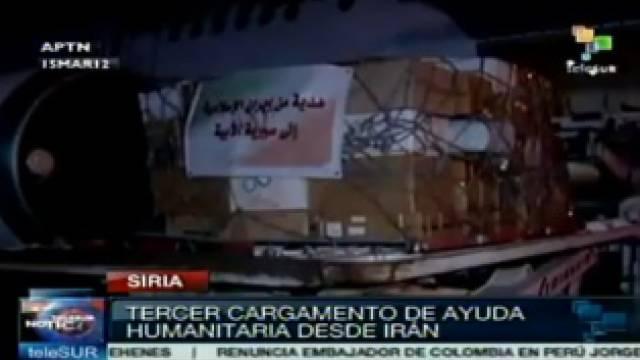 Iran schickt Syrien humanitäre Hilfsgüter