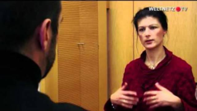 Sahra Wagenknecht im Interview mit weltnetz.tv